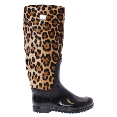 Dolce & Gabbana - Black Rubber Rain Boots, Londress