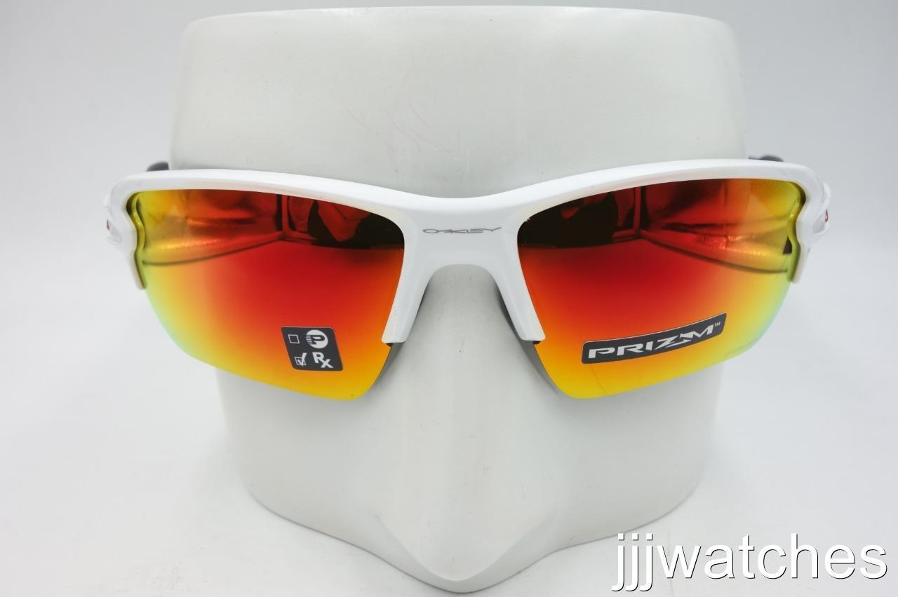 353b5f04a93 ... New Oakley Flak 2.0 XL Polished White PRIZM Ruby Rx Sunglasses OO9188  93-59  173 ...