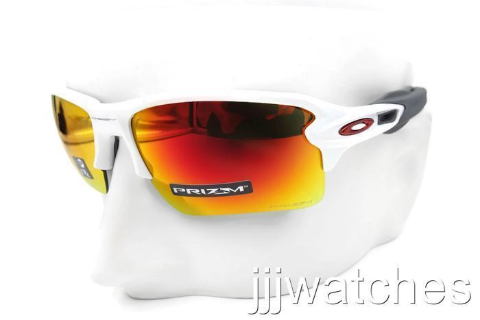 d695e8d9460ef New Oakley Flak 2.0 XL Polished White PRIZM Ruby Rx Sunglasses OO9188 93-59   173 ...