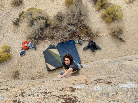 Climbing in Bishop, California with Asana crash pads