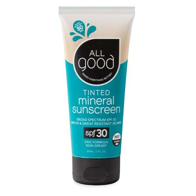 All Good Tinted Mineral Sunscreen 3 oz bottle