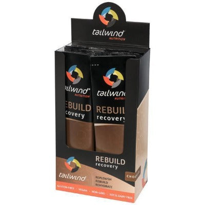 Tailwind Rebuild is engineered to nourish your muscles and body with a plant-based complete protein that is bolstered with carbohydrates, healthy fats and the perfect amount of electrolytes. Single Servings. Flavor is Chocolate