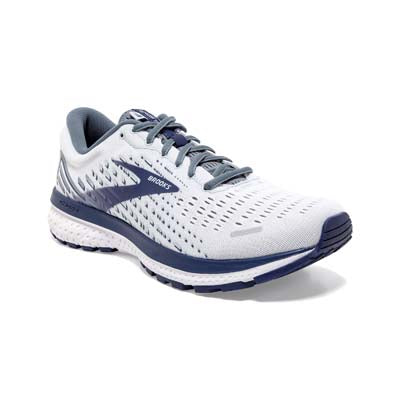 a Brooks Ghost 13 men's running shoe that is blue