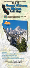 Mt. Whitney to Bishop Trail Map