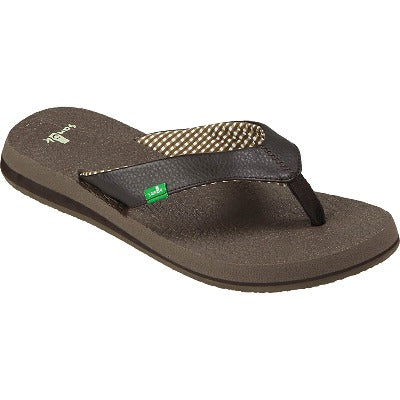 A Sanuk women's sandal that is brown
