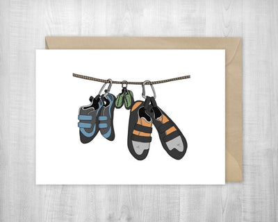 Climbing Baby Shoes Greeting Card