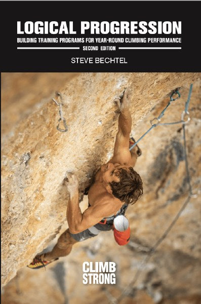 "Cover of ""Logical Progression"" a training for climbing book written by Steve Bechtel"