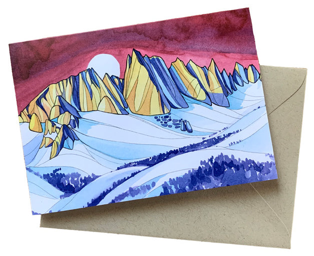Mammoth Skyline of the Minarets Greeting Card