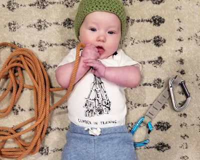 Climber in Training Organic Cotton Onesie