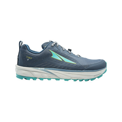 An Altra Women's TIMP 3 trail running shoe that is blue