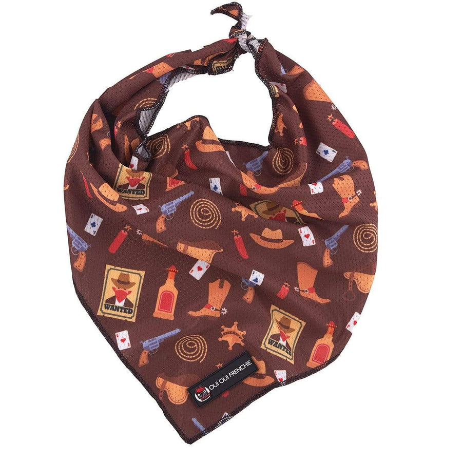 Oui Oui Frenchie Bandanas Oui Oui Frenchie Bandana - Texas Cowboy