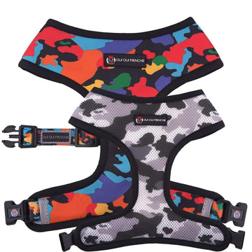 Oui Oui Frenchie Reversible Harnesses Oui Oui Frenchie Reversible Harness - Camo
