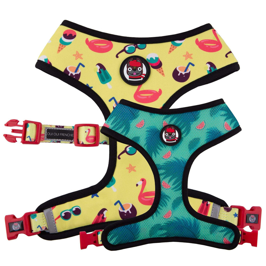 Oui Oui Frenchie Reversible Harnesses Oui Oui Frenchie Reversible Harness - Pool Party