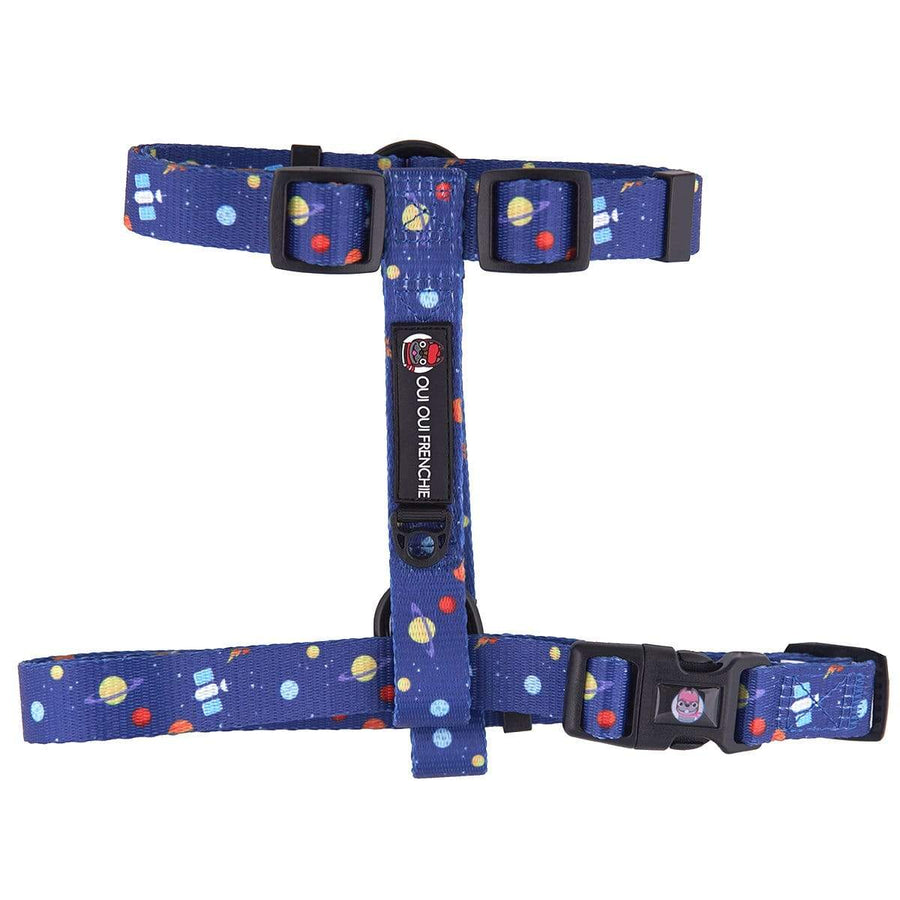 Oui Oui Frenchie Strap Harnesses One-Size Fits Most Oui Oui Frenchie Strap Harness - Space