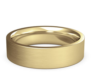 flat gold ring, wedding band, yellow gold, solid gold, 18k, 14k, 10k, mens, womens
