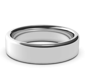 white gold ring, wedding band, modern ring, mens, womens, custom made, 6mm ring