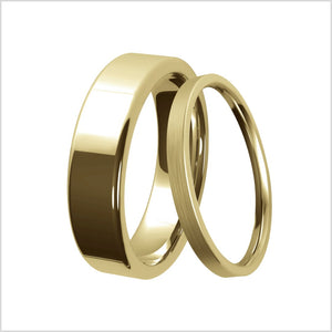 yellow gold, classic ring, curved ring, d curve, mens, womens, polished, matte finish