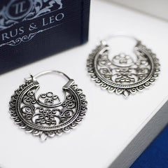Concordia 925 sterling silver statement earrings.