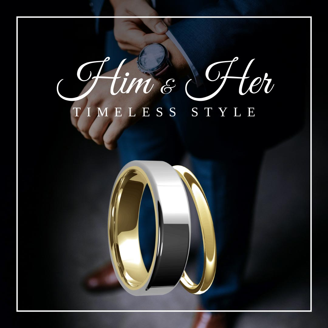 Mixed gold rings, rose gold and white gold,  women's wedding band, hand made, luxury quality, classic ring style, modern wedding bands.
