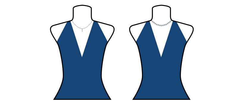 Necklace styles for halter tops and dresses.