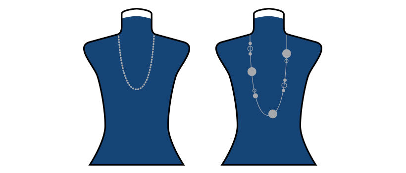 Necklaces for turtleneck tops.