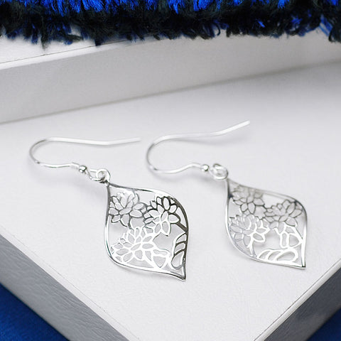 Lotus Point Hook Earrings