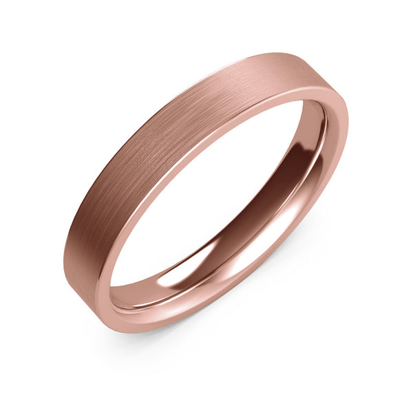4mm rose gold ring, womens wedding ring, womens gold ring, womens ring, womens wedding band, 10k gold, 14k gold, 18k gold