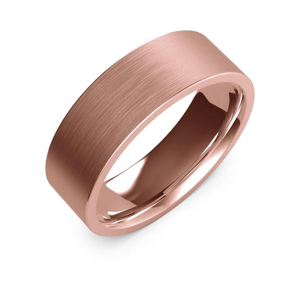 7mm rose gold ring, womens wedding ring, womens gold ring, womens ring, womens wedding band, 10k gold, 14k gold, 18k gold