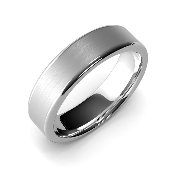 6mm White Gold Wedding Ring, Hand Made, 10k Gold, 14k Gold or 18k Gold Unisex Wedding Band