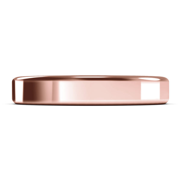 4mm Rose Gold Wedding Ring, Gold Band, 10k Gold, 14k Gold or 18k Gold Unisex Wedding Band