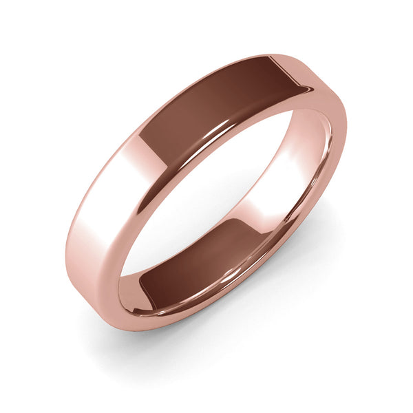 5mm Rose Gold Wedding Ring, Gold Band, 10k Gold, 14k Gold or 18k Gold Unisex Wedding Band