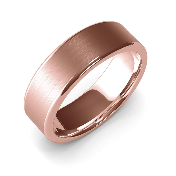 7mm Rose Gold Wedding Band Ring, Designer Ring, Comfort Fit, Custom Ring, Hand Made, Master Goldsmith