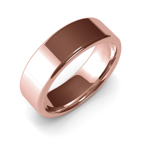 7mm Rose Gold Wedding Ring, Gold Band, 10k Gold, 14k Gold or 18k Gold Unisex Wedding Band