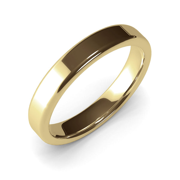 4mm Yellow Gold Wedding Band Ring, 14k Gold Womens Ring, Mens Ring