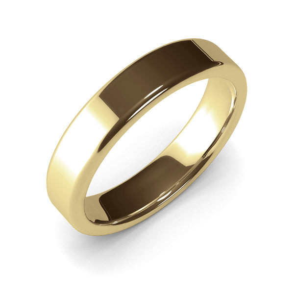 5mm Yellow Gold Wedding Band Ring, 14k Gold Womens Ring, Mens Ring