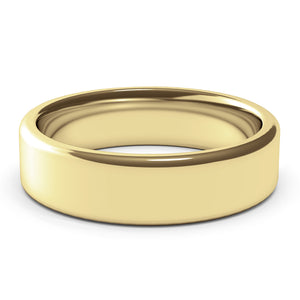 6mm Yellow Gold Wedding Band Ring, 14k Gold Womens Ring, Mens Ring