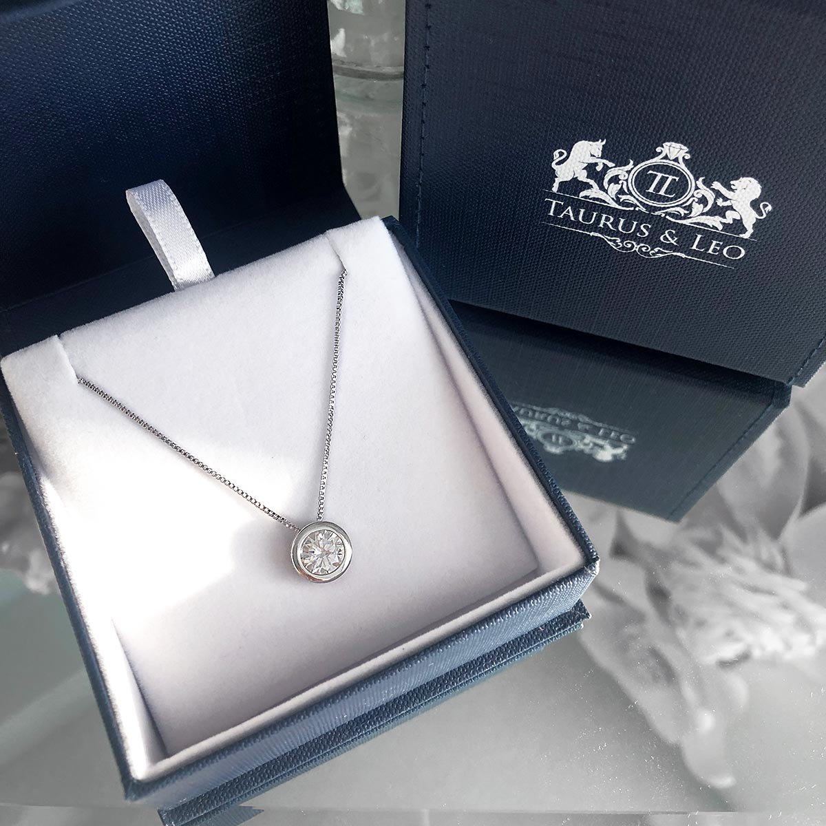 necklace, silver necklace, charm necklace, sterling silver necklace, box link chain, white stone necklace