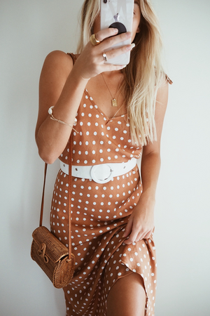 SPOT RUST SLIP DRESS