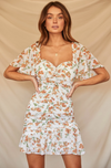 MARIGOLD DRESS-WHITE FLORAL