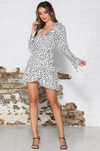 FREYA WRAP MINI DRESS