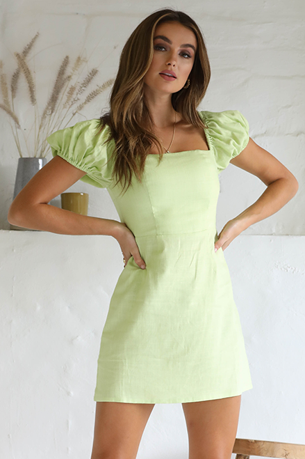 LIME MINI DRESS
