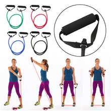 Load image into Gallery viewer, 120cm Elastic Resistance Bands Yoga Pull Rope