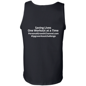 Gildan 100% Cotton Tank Top - Saving Lives One Workout at a Time Series