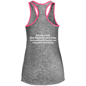 Sport-Tek Ladies' Moisture Wicking Racerback Tank - Saving Lives One Workout at a Time Series