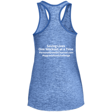 Load image into Gallery viewer, Sport-Tek Ladies' Moisture Wicking Racerback Tank - Saving Lives One Workout at a Time Series