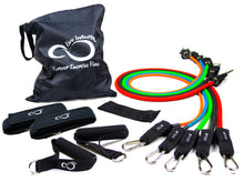 Load image into Gallery viewer, 11 Piece Resistance Band Set - Get Fit Anywhere!