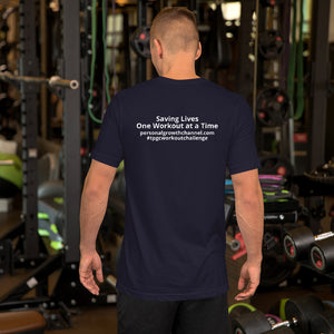Short-Sleeve Unisex T-Shirt - Blank Front - Saving Lives One Workout at a Time Series