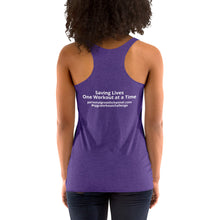 Load image into Gallery viewer, Women's Racerback Tank - Saving Lives One Workout at a Time