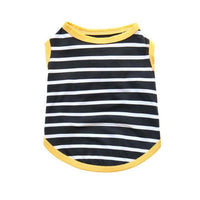 Simple + Stylish Black & White Striped Summer Dog Shirt