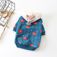 Fox and Tree Fall Sweater Hoodie